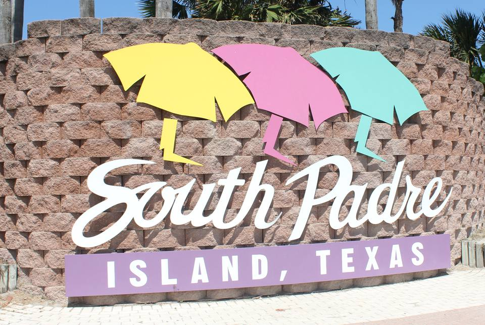 South Padre Island Welcome Sign
