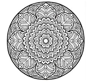 Awesome Coloring Pages Mandala Avodart Online
