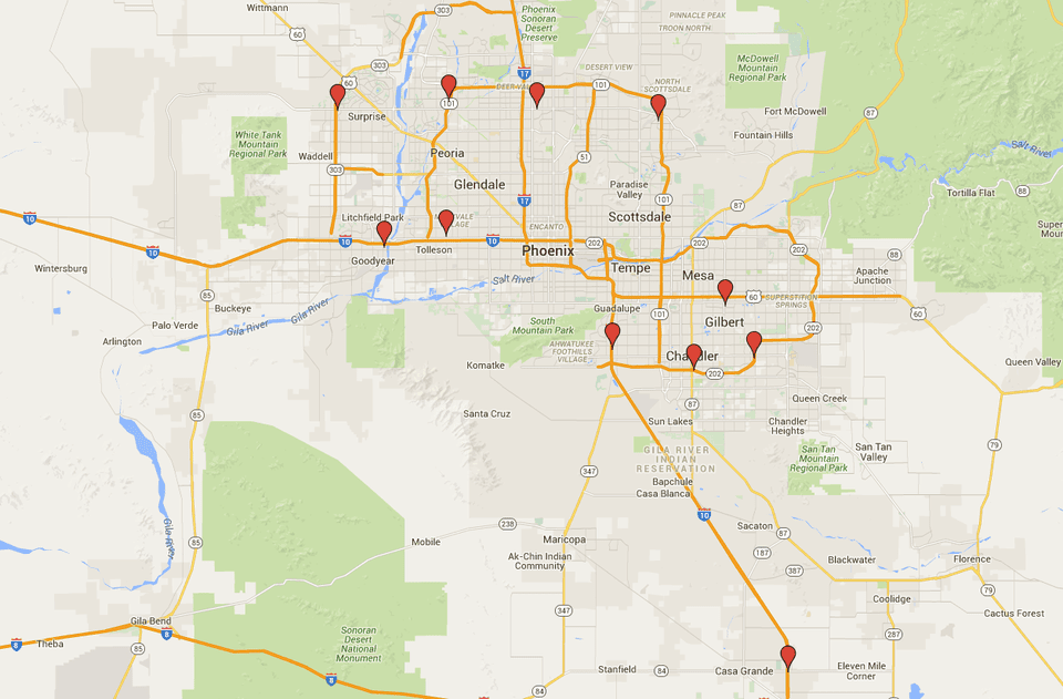 Sams Club Stores In Phoenix Addresses Contact Info Map - Costco us locations map