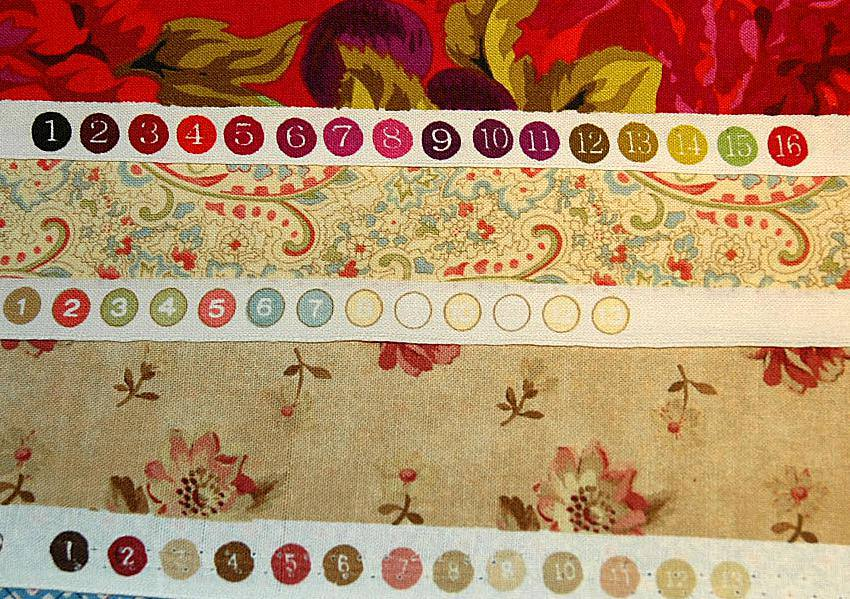 Color Keys on Fabric Selvages