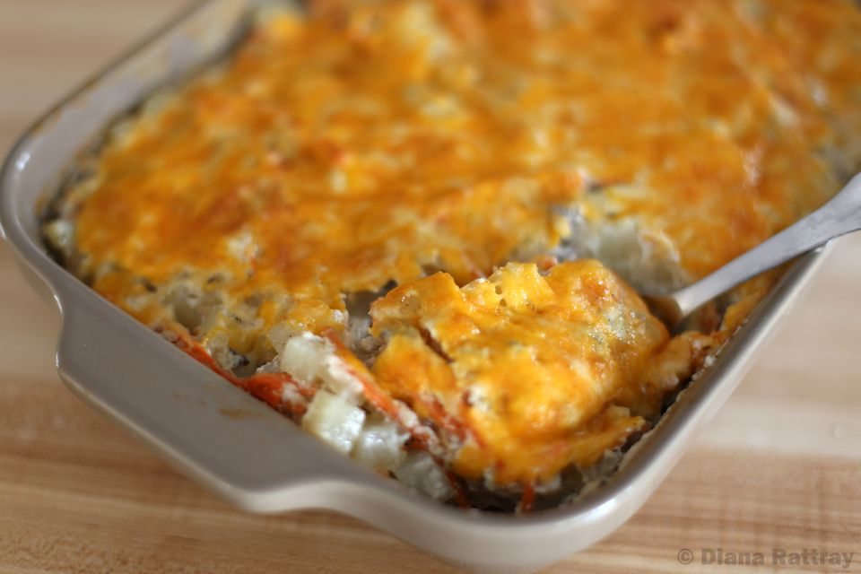 Ground Beef and Potato Casserole With Cheese