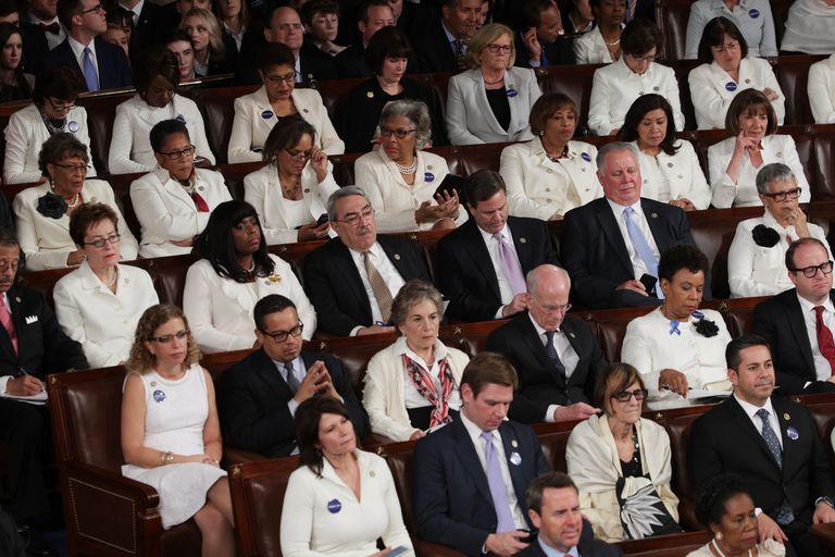 Women in Congress wear white, February 28, 2017