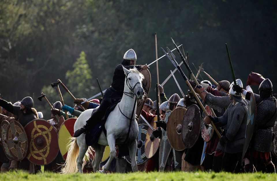 Enthusiasts Participate In The Annual Battle Of Hastings Re-enactment