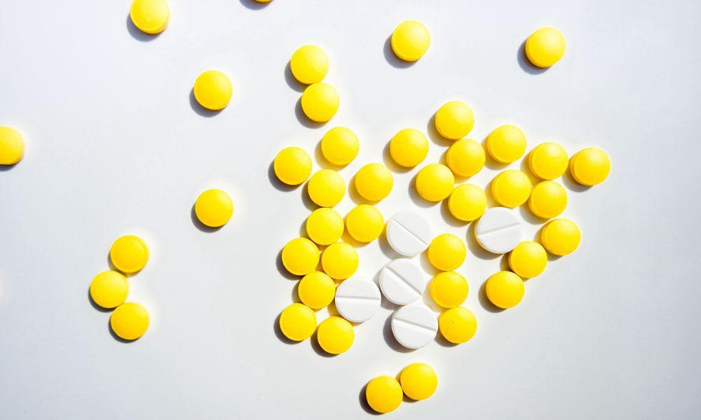 Yellow and white pills