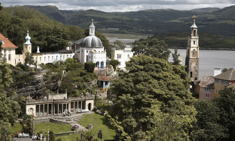 Planned resort community of Portmeirion, Gwynedd, North Wales, United Kingdom