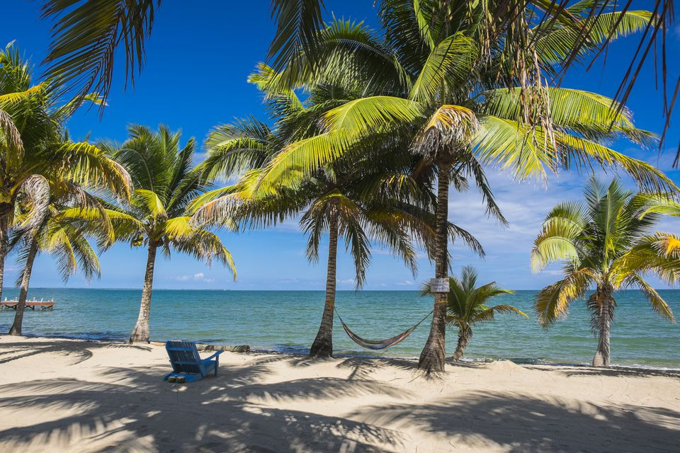 Belize, Stann Creek district, Hopkins, little garifuna fishing village, the beach