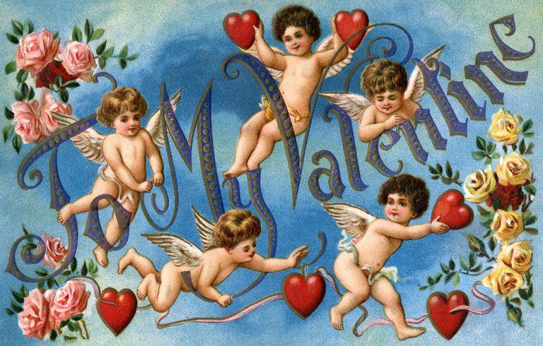 Vintage Victorian Valentine card