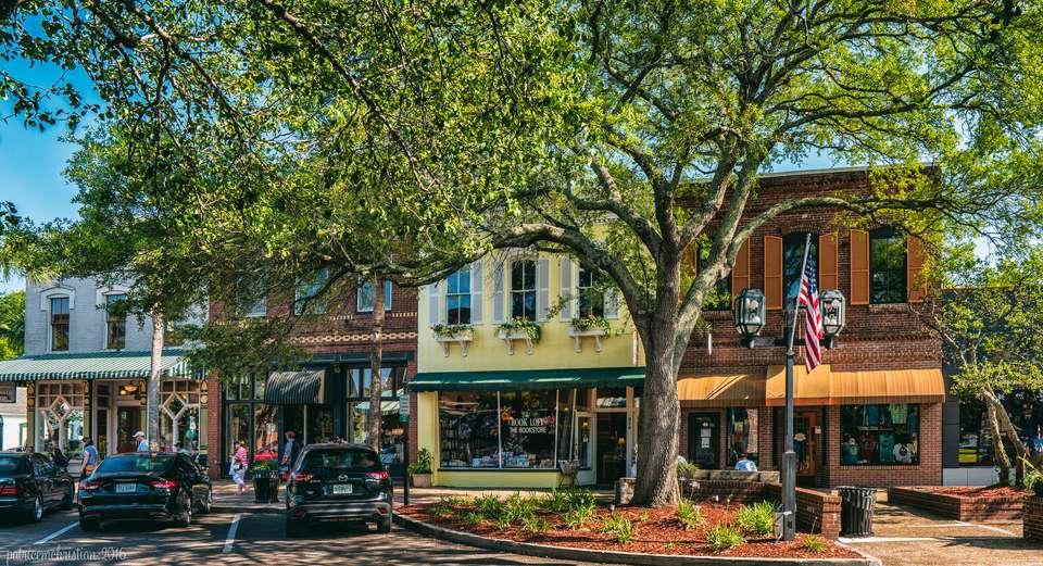 Quaint downtown in Fernandina Beach, Florida.