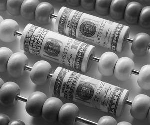 Image of Money on an Abacus