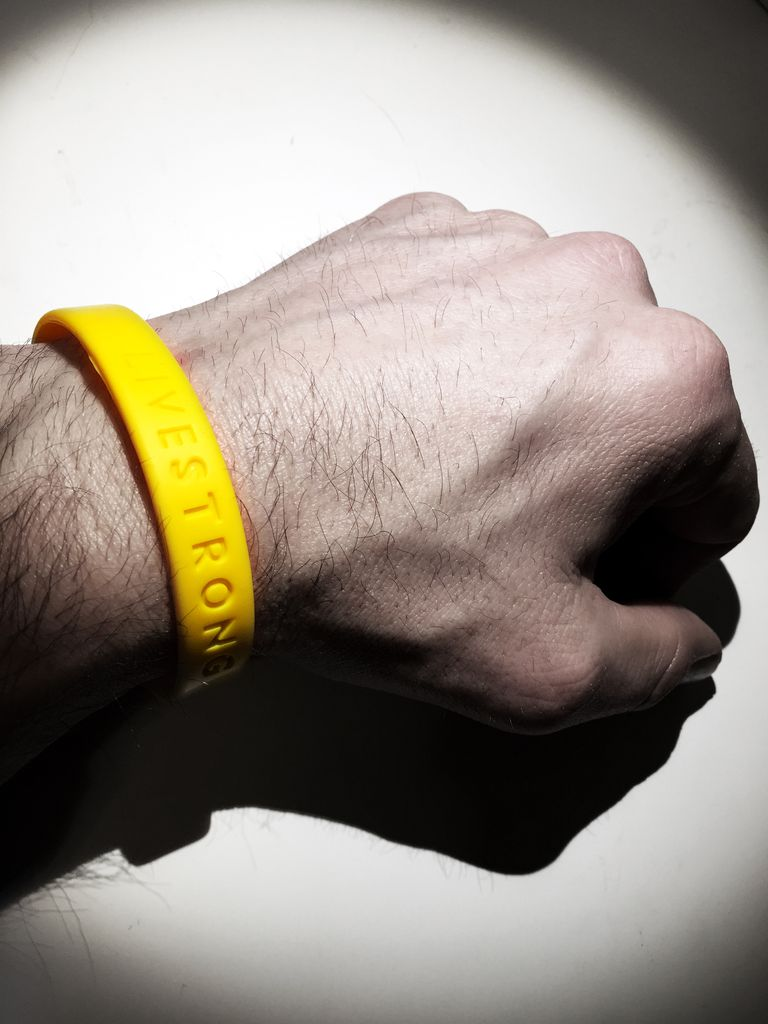 live strong bracelet and Lance Armstrong surviving cancer