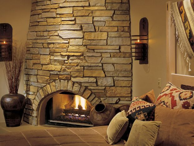 Stone fireplace surrounds photo gallery and ideas - Images of stone fireplaces ...