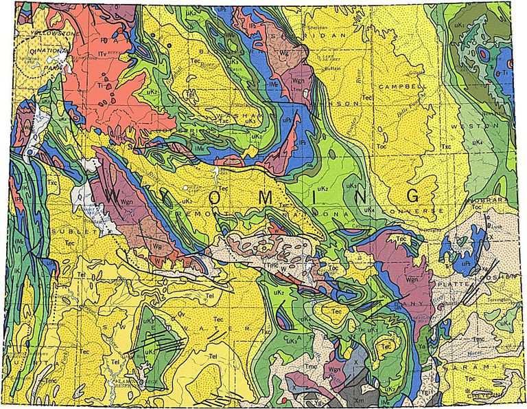 Geologic Maps Of The United States - Map of the 50 united states