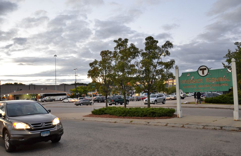 Riverside T Station Newton MA