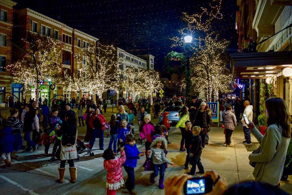 Frisco Square Christmas Lights