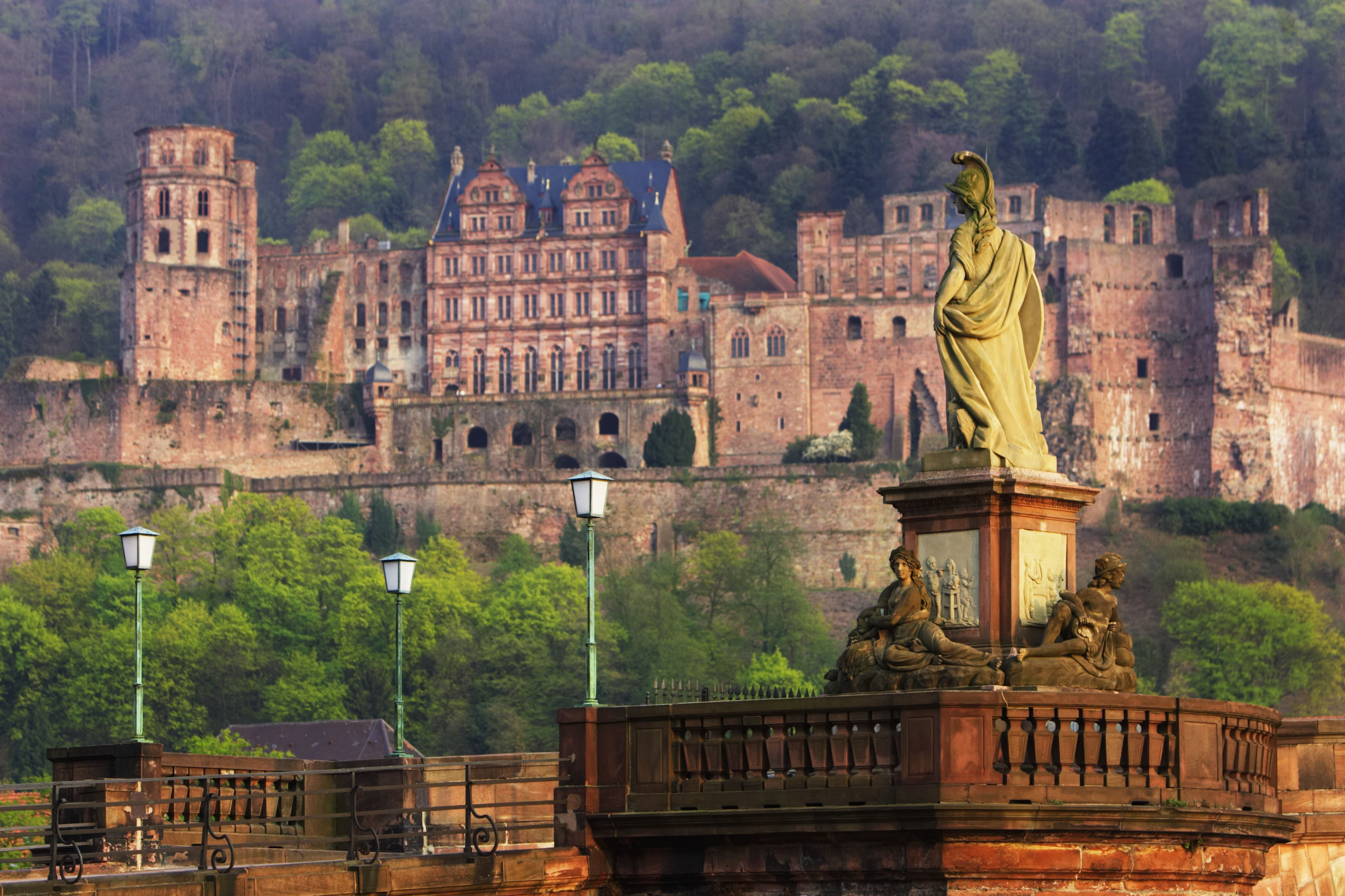 Germany Heidelberg Karl Theodor Bridge And Heidelberg Castle A C Ffa Bcc D Acc