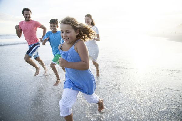 Family exercise can be so much fun.