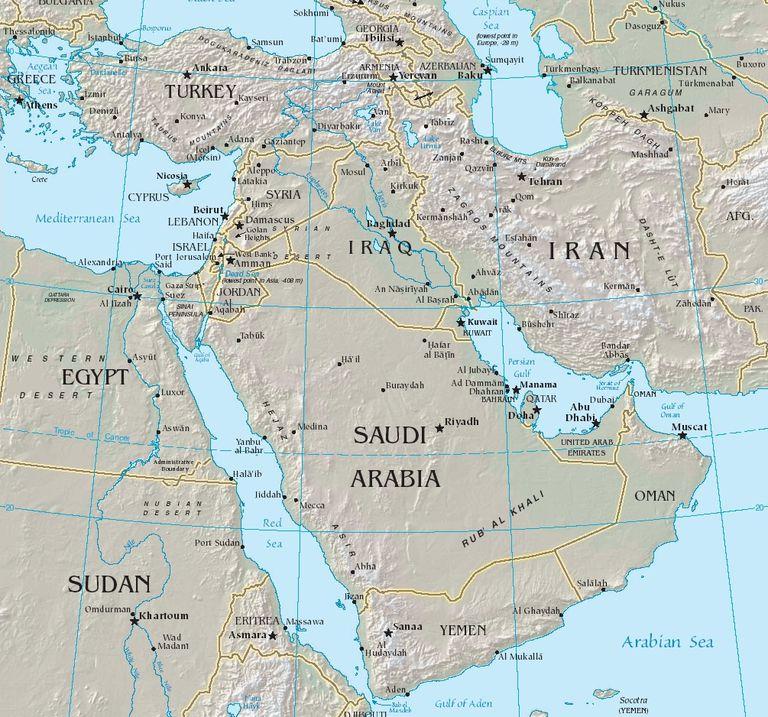 Mapa del Medio Oriente