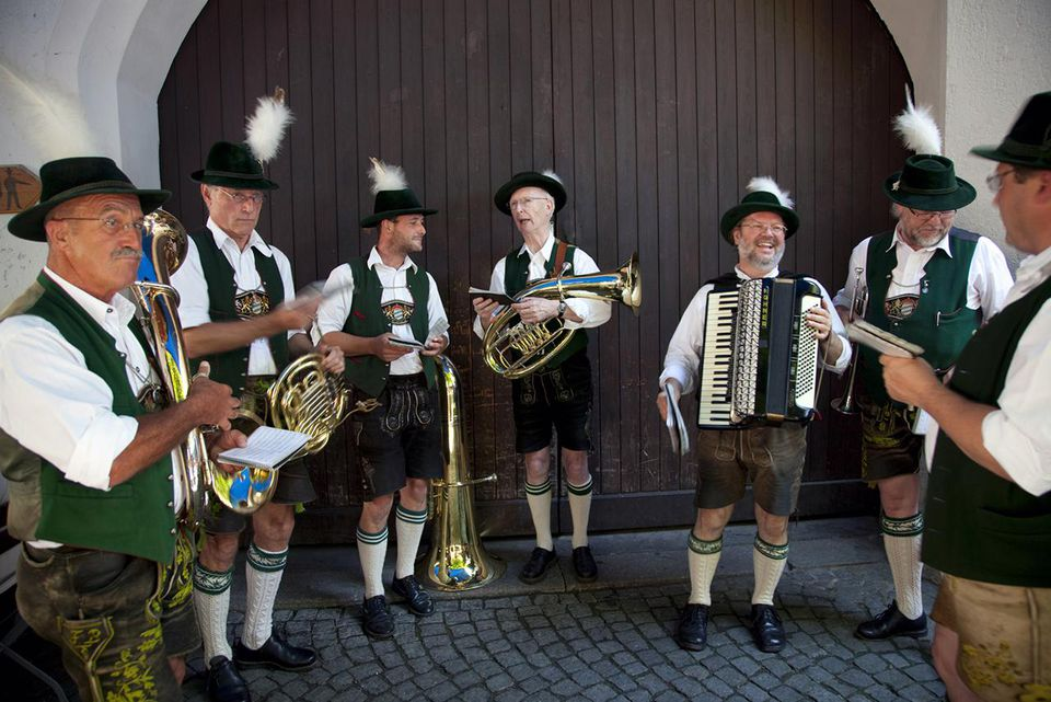 Bavarian band at Octoberfest.