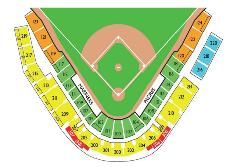 Peoria Stadium Spring Training Seating Chart