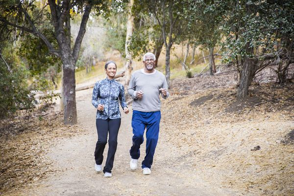 older couple jogging