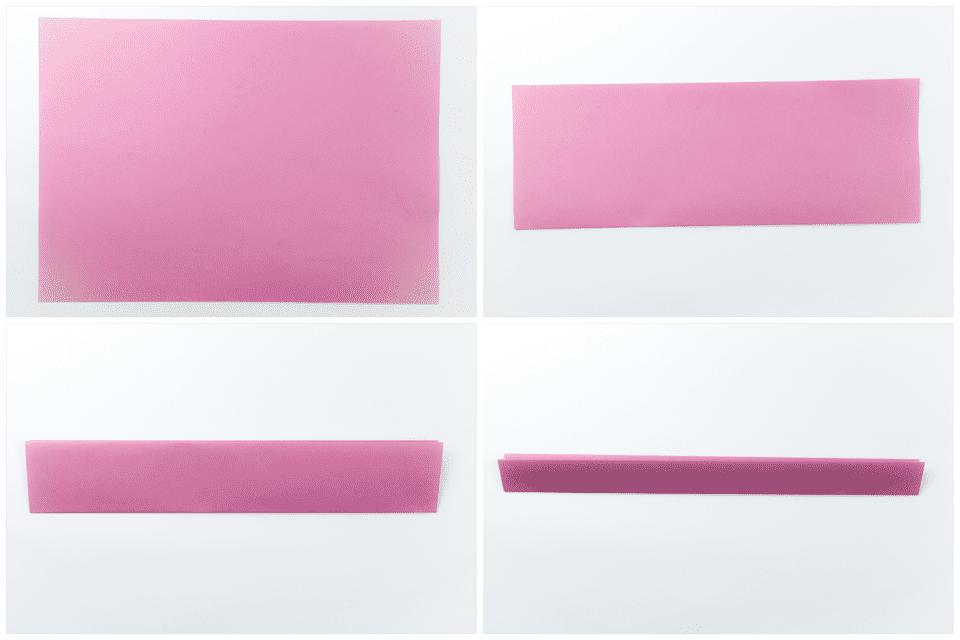 Origami Pink Ribbon Letter Fold Tutorial