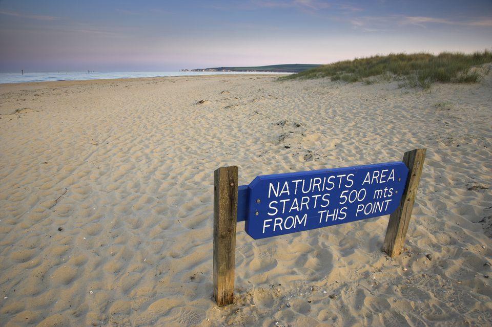 Nude Beach in Dorset