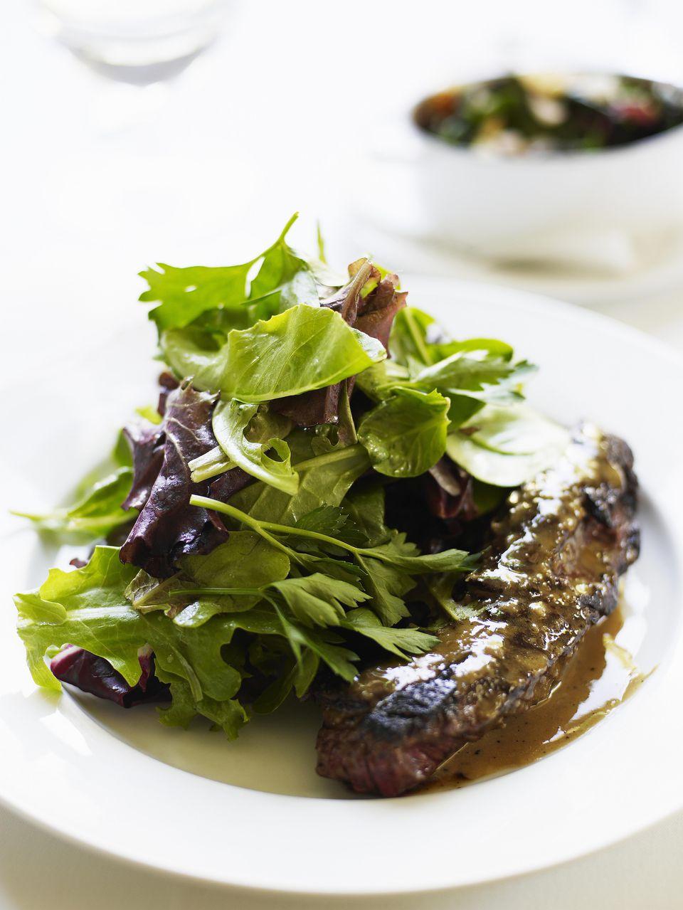 Balsamic Hanger Steaks