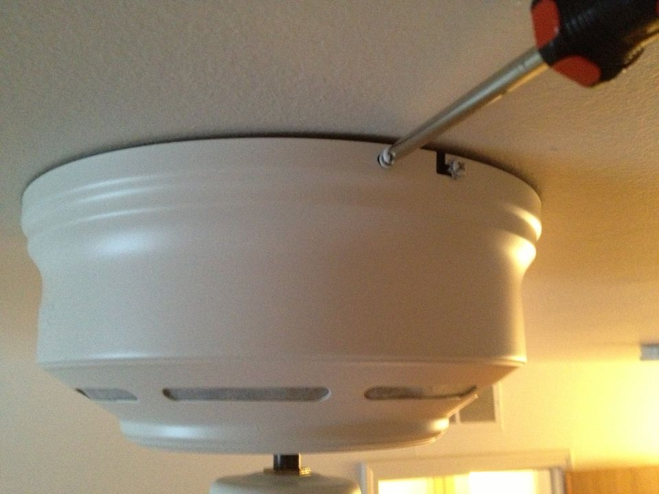 Installing ceiling fan cover