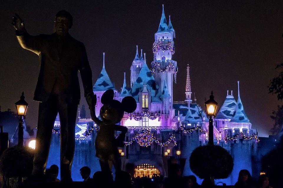 Cinderella's Holiday Castle at Disneyland