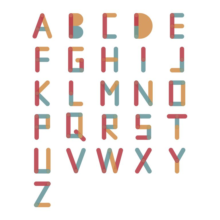 Set of letter icons