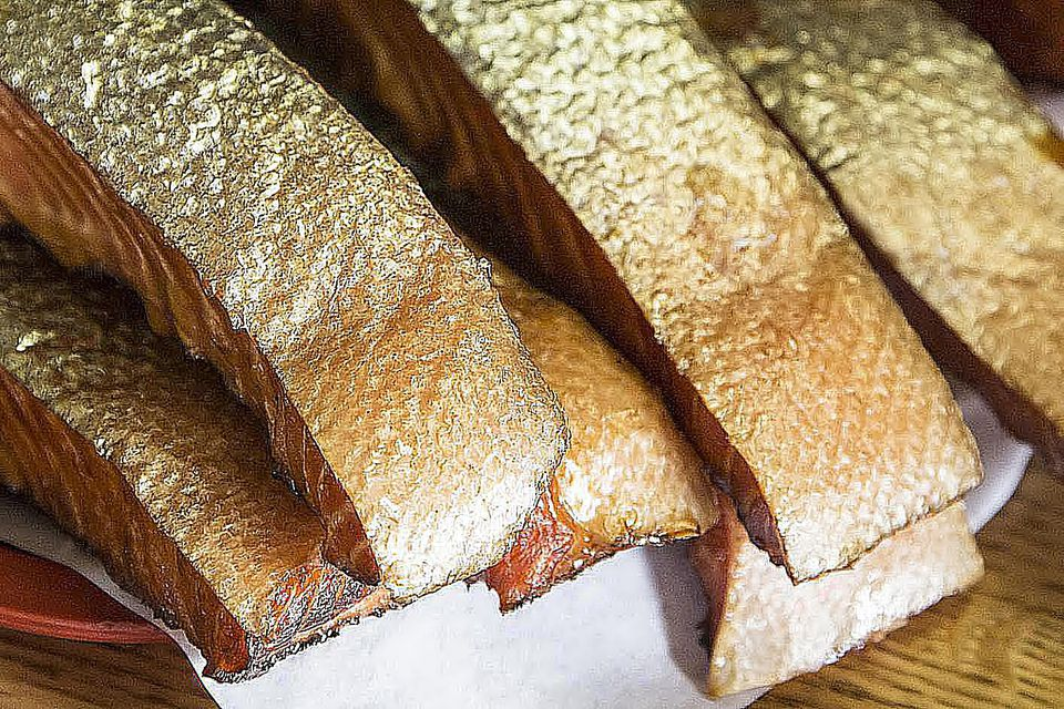 Fresh wild cured smoked sockeye salmon