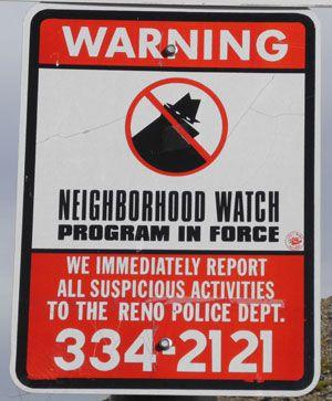 Neighborhood Watch,Reno,crime,prevention,Washoe County,Nevada,NV