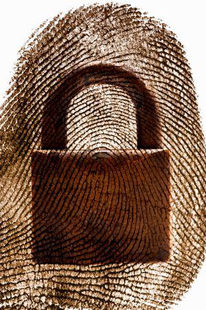thumbprint with padlock