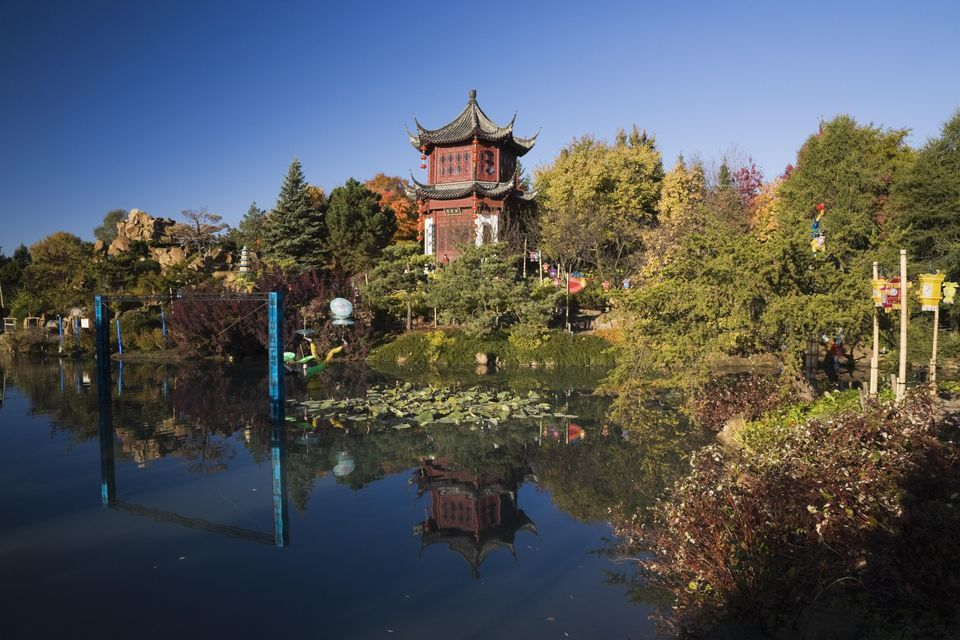 Chinese garden in Autumn, Montreal