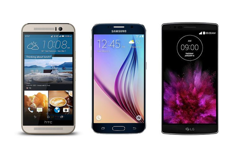 HTC One M9 vs.Samsung Galaxy S6 vs. LG G Flex 2