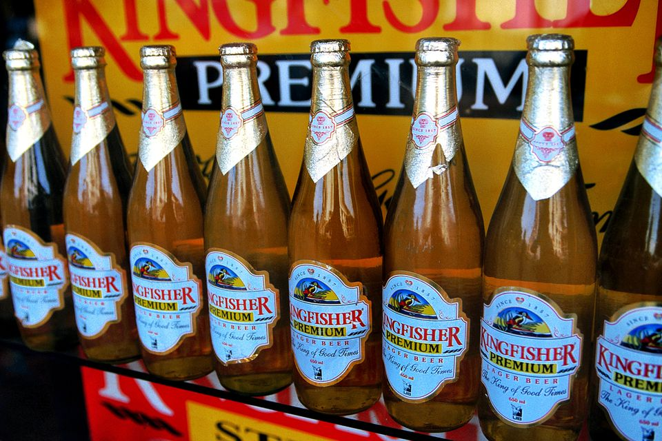 Kingfisher Premium, one of the popular Indian beers