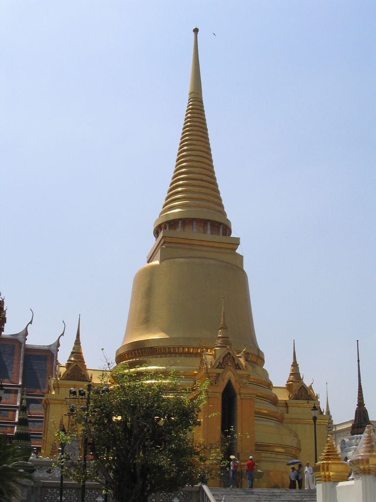 Golden Palace roofline in Thailand