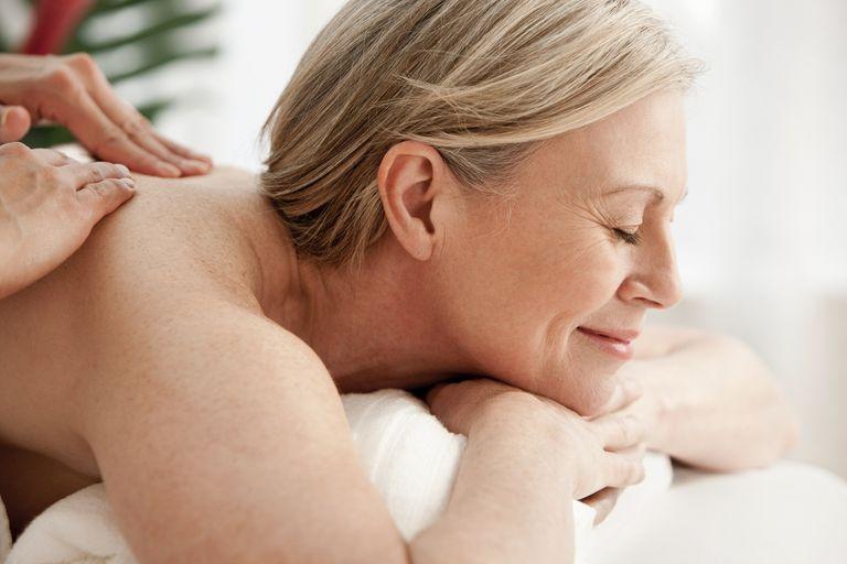 Mature woman receiving massage