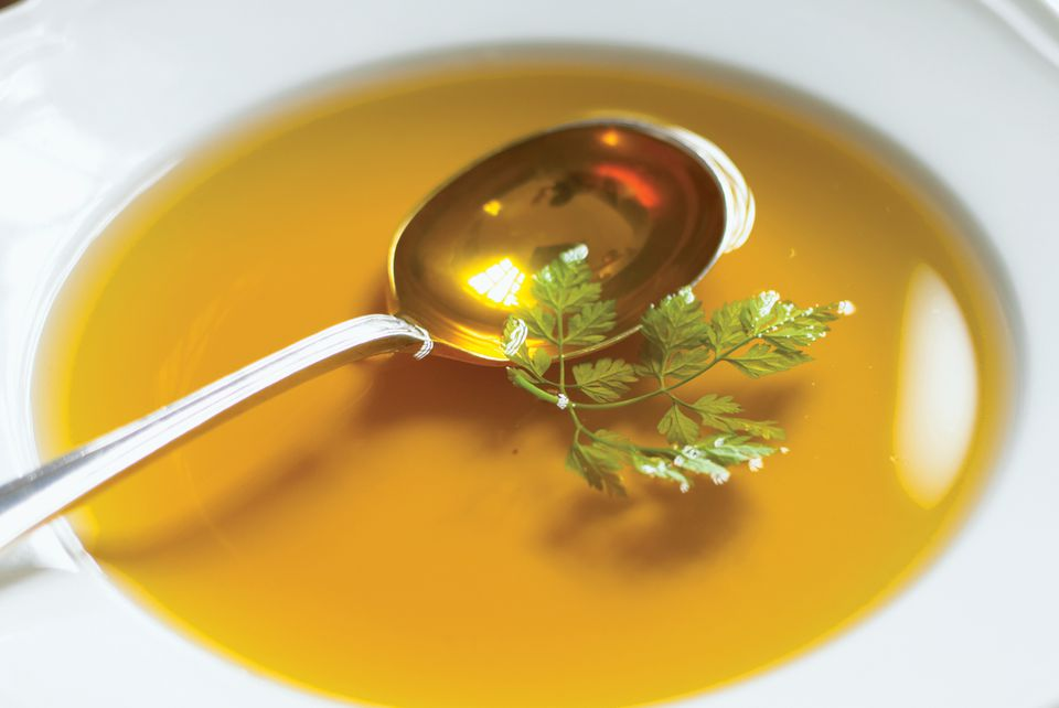 The characteristic of an excellent consomme is its clarity