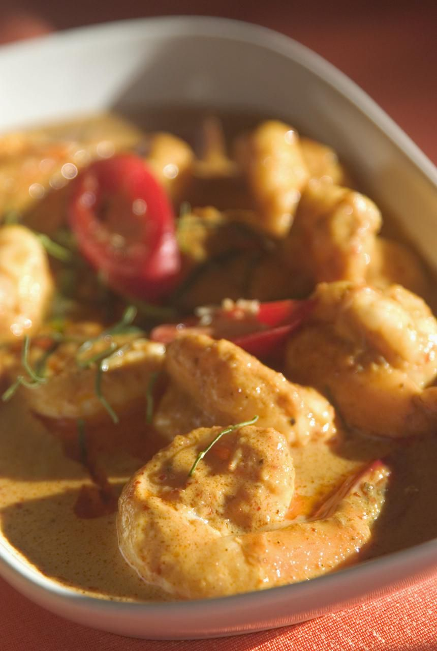 Shrimp in a penang curry sauce