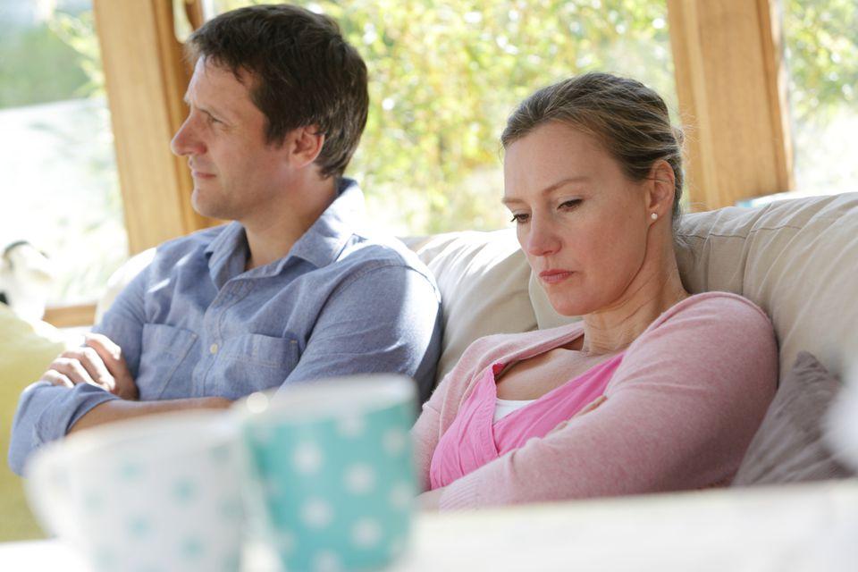 irritated wife and husband
