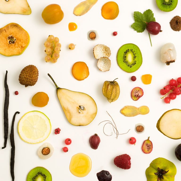fruit against a white background
