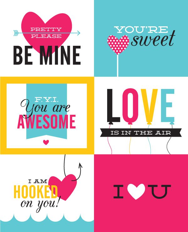 free printable valentines from tales of a thirty something
