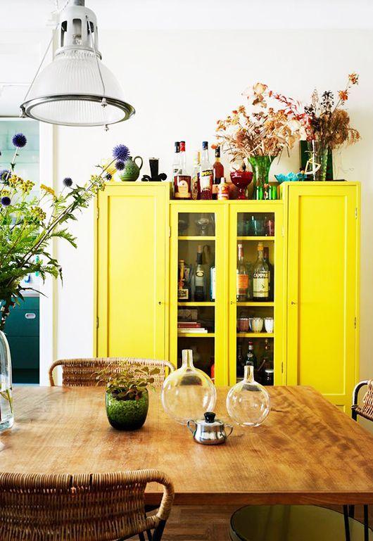 Muebles de almacenamiento en el comedor: Buffets, vitrinas y más