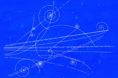 How to make blueprint paper a bubble chamber works on the same principle as a cloud chamber except the spiral tracks malvernweather Image collections