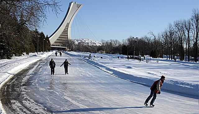 Skating Montreal's Parc Maisonneuve's ice rink is a treat for speed demons.