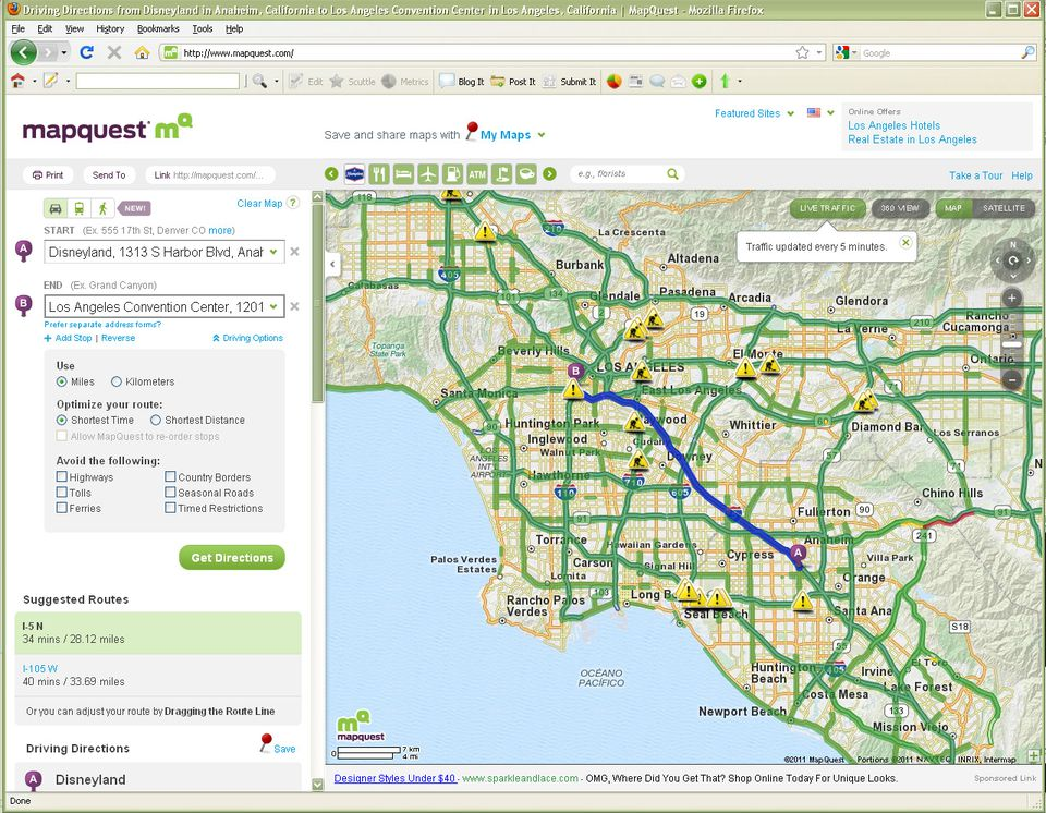Best Los Angeles Traffic Maps And Directions: Sigalert Los Angeles Map At Infoasik.co