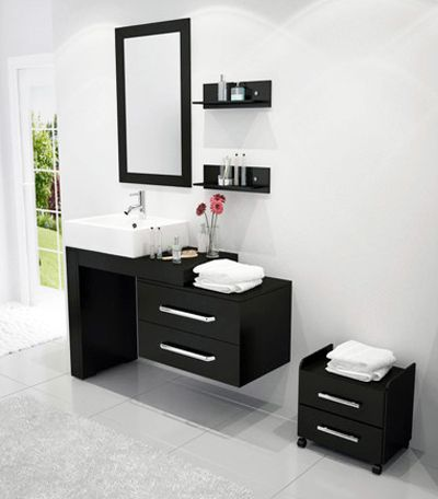 small sink with vanity. Scorpio reversible modern bath vanity sold by BathGems 9 Scaled Down Vanities for Small Baths