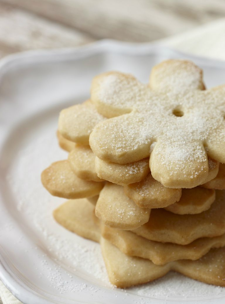 Sugar cookies in a stack