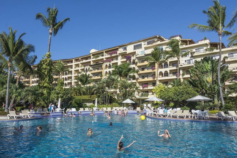 Swimming pool at Velas Vallarta Resort Hotel, Puerto Vallarta, Mexico.